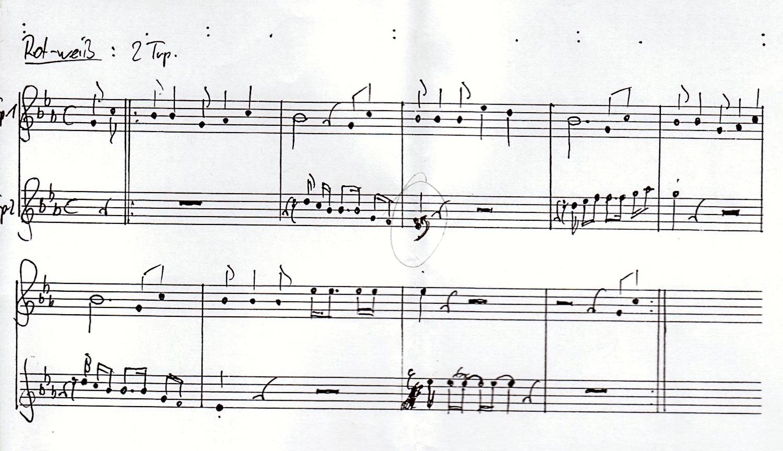RW Rankweil-Trompeten-Noten Refrain
